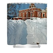 Along The Path To The Church Shower Curtain
