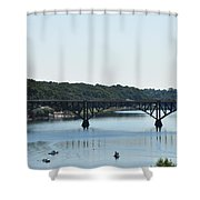 Along The Schuylkill River At Strawberry Mansion Shower Curtain