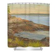 Along The Sound Shore Shower Curtain
