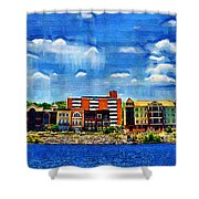 Along The Tennessee River In Decatur Alabama Shower Curtain