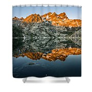 Alpenglow At Upper Sardine Lake Shower Curtain