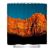 Alpenglow In Zion Canyon Shower Curtain