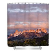 Alpenglow On The Cimarron Mountains - D003083a Shower Curtain