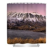 Alpenglow Over The Clyde River Shower Curtain