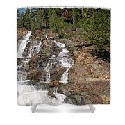 Alpine Creek Falls Lake Tahoe Shower Curtain
