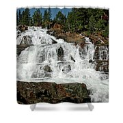 Alpine Falls Glen Alpine Falls Lake Tahoe Shower Curtain