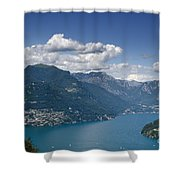 Alpine Lake And Mountains Shower Curtain