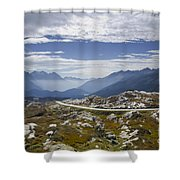 Alps And Road Shower Curtain