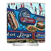 Al's All American Diner Shower Curtain