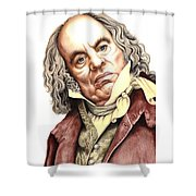 Alun Armstrong Plays Jeremiah Flintwich Shower Curtain