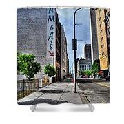 Am And As Downtown Buffalo Vert Shower Curtain