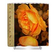 Amber Queen Rose Shower Curtain
