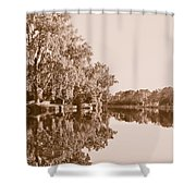 Amber Reflection Shower Curtain