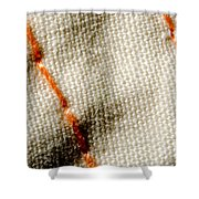 Amber Stitch Study Of Threads Up Close Shower Curtain