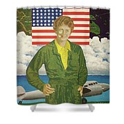 Amelia Earhart Calendar Art Shower Curtain