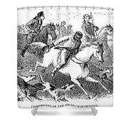 America: Fox Hunt Shower Curtain