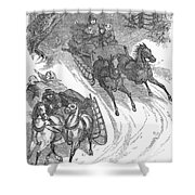 America: Sleighing, 1858 Shower Curtain