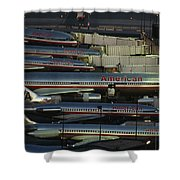 American Airlines Passenger Jets Shower Curtain