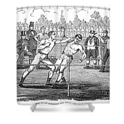 American Boxing, 1859 Shower Curtain