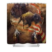 American Buffalo Shower Curtain by Carol Cavalaris