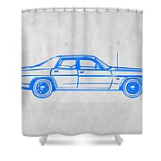 American Car Shower Curtain by Naxart Studio