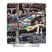 American Carousel Horse Shower Curtain