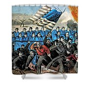 American Civil War, Battle Of Malvern Shower Curtain by Photo Researchers