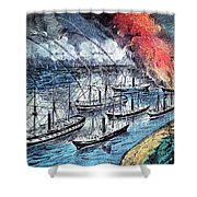 American Civil War, Farraguts Fleet Shower Curtain
