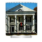 American Colonial Architecture Christmas  Shower Curtain