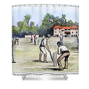 American Cricket, 1882 Shower Curtain