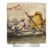 American Easter Card Shower Curtain