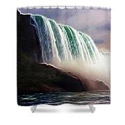 American Falls Power Shower Curtain