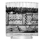 American Farm: Plan, 1793 Shower Curtain