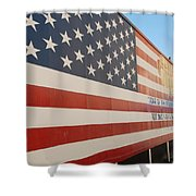 American Flag At Nathan's Shower Curtain