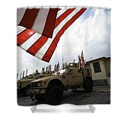 American Flags Are Displayed Shower Curtain