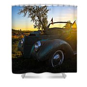 American Hot Rod Sunset Shower Curtain