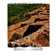 American Indian Patterns Of Living - Greeting Card Shower Curtain