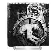 American Industry, 1920 Shower Curtain