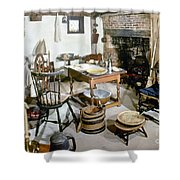 American Kitchen, 1695 Shower Curtain