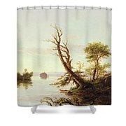 American Lake Scene Shower Curtain