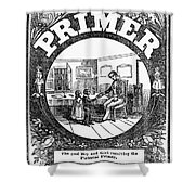 American Pictorial Primer Shower Curtain