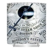 American Steam Gauge Shower Curtain