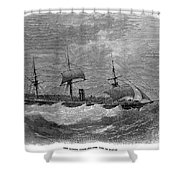 American Steamship, 1870 Shower Curtain