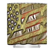 American Streets Of Gold Shower Curtain
