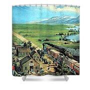 American Transcontinental Railroad Shower Curtain