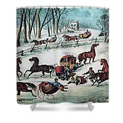 American Winter 1870 Shower Curtain