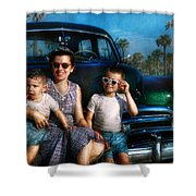 Americana - Car - The Classic American Vacation Shower Curtain