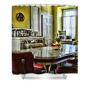 Americana - 1950 Kitchen - 1950s - Retro Kitchen Shower Curtain