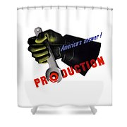 America's Answer -- Production  Shower Curtain