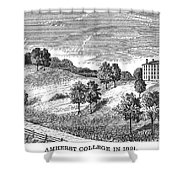 Amherst College, 1821 Shower Curtain